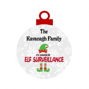 Family Elf Surveillance Acrylic Christmas Ornament Decoration